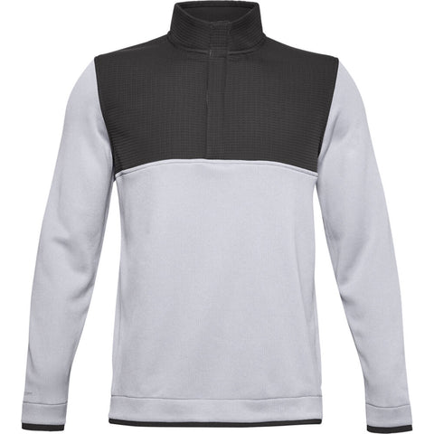 UNDER ARMOUR MEN'S UA STORM SWEATER FLEECE 1/2 SNAP TOP GREY