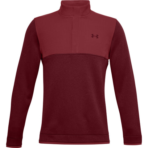 UNDER ARMOUR MEN'S UA STORM SWEATER FLEECE 1/2 SNAP TOP RED