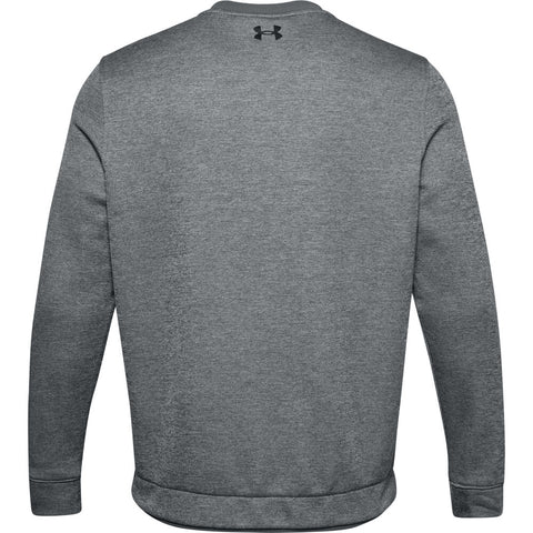 UNDER ARMOUR MEN'S SWEATER FLEECE CREW TOP GREY