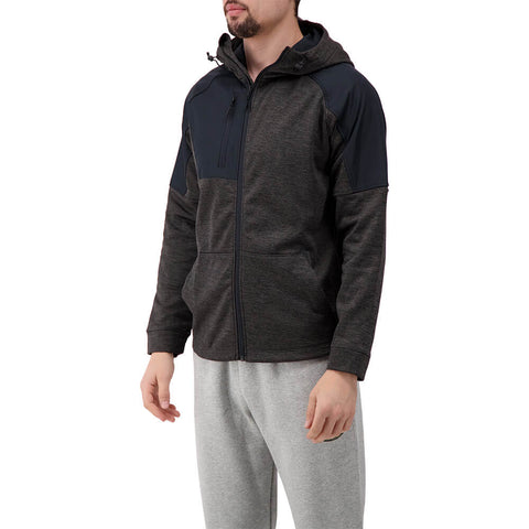 LEVELWEAR MEN'S MAVEN HOODY HEATHER CHARCOAL/BLACK