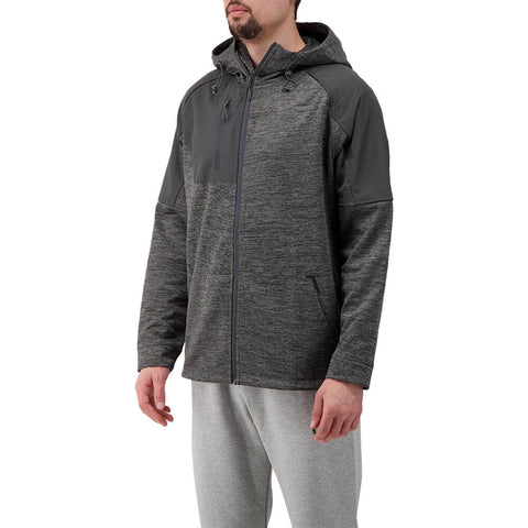 LEVELWEAR MEN'S MAVEN HOODY HEATHER PEBBLE/CHARCOAL