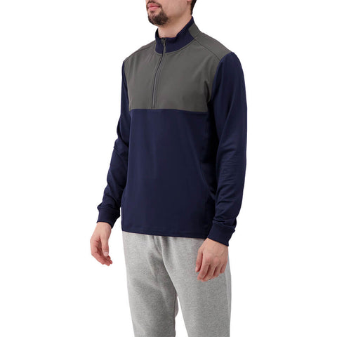 LEVELWEAR MEN'S RUSH 1/4 ZIP PULLOVER NAVY/CHARCOAL