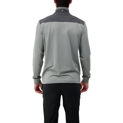 LEVELWEAR MEN'S RUSH 1/4 ZIP PULLOVER PEBBLE/CHARCOAL