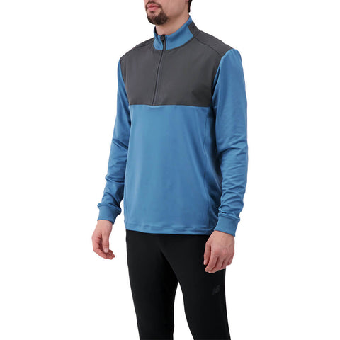 LEVELWEAR MEN'S RUSH 1/4 ZIP PULLOVER STELLAR BLUE/CHARCOAL