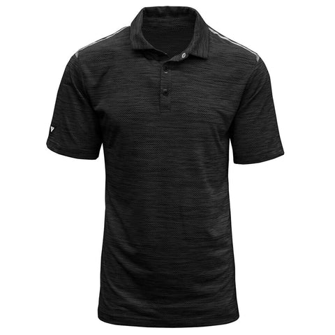 LEVELWEAR MEN'S FLURRY POLO HEATHER BLACK