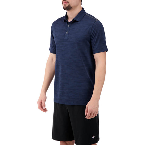 LEVELWEAR MEN'S FLURRY POLO HEATHER NAVY