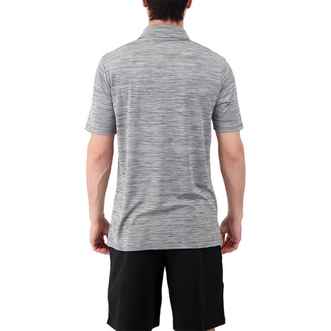 LEVELWEAR MEN'S FLURRY POLO HEATHER CHARCOAL