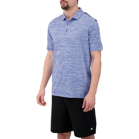 LEVELWEAR MEN'S FLURRY POLO HEATHER DAZZLING BLUE