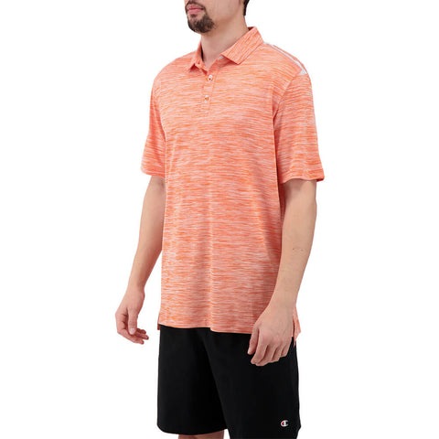 LEVELWEAR MEN'S FLURRY POLO HEATHER MONARCH