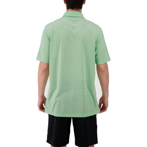 LEVELWEAR MEN'S FLURRY POLO HEATHER GREEN ASH