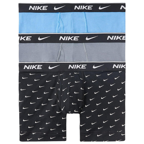 NIKE MEN'S BOXER BRIEF 3 PACK BLACK/GREY/BLUE