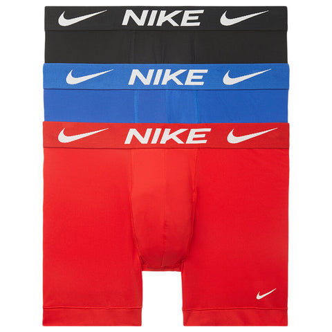 NIKE MEN'S BOXER BRIEF 3 PACK RED/ROYAL/BLACK