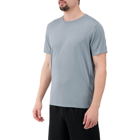 NEW BALANCE MEN'S Q SPEED JAQUARD SHORT SLEEVE TOP