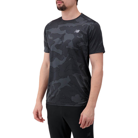 NEW BALANCE MEN'S PRINTED ACCELERATE SHORT SLEEVE TOP