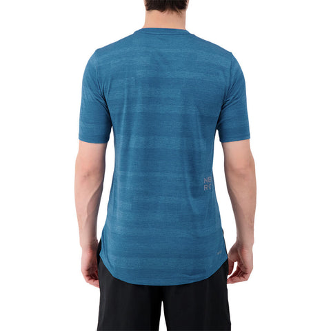 NEW BALANCE MEN'S Q SPEED FUEL SHORT SLEEVE TOP
