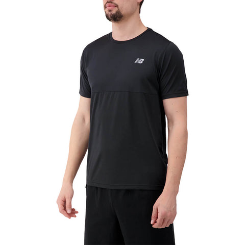 NEW BALANCE MEN'S ACCELERATE SHORT SLEEVE TOP BLACK