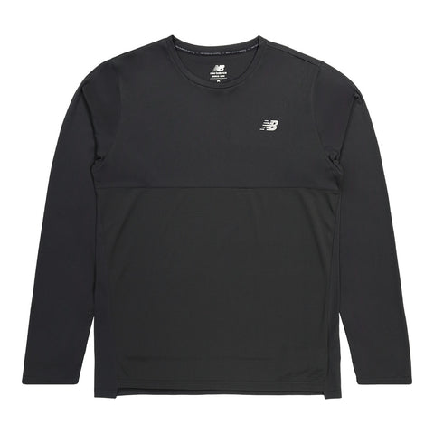NEW BALANCE MEN'S ACCELERATE LONG SLEEVE TOP BLACK