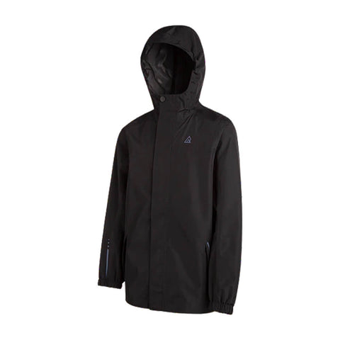 RIPZONE B STORM RAIN JACKET BLACK HOOD UP