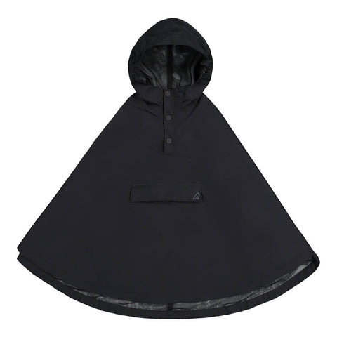 RIPZONE GIRLS RAIN PONCHO BLACK