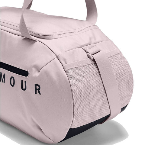 UNDER ARMOUR ROLAND DUFFEL SMALL DASH PINK/BLACK CLOSE UP