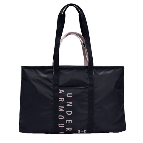 UNDER ARMOUR WOMEN'S METALLIC FAVORITE TOTE 2.0 BLACK/DASH PINK