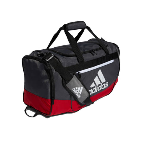 ADIDAS DEFENDER III MEDIUM DUFFEL SCARLET/GREY SIX ON AN ANGLE