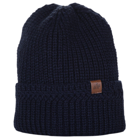 GREAT NORTHERN MEN'S BRAIDED BEANIE NAVY
