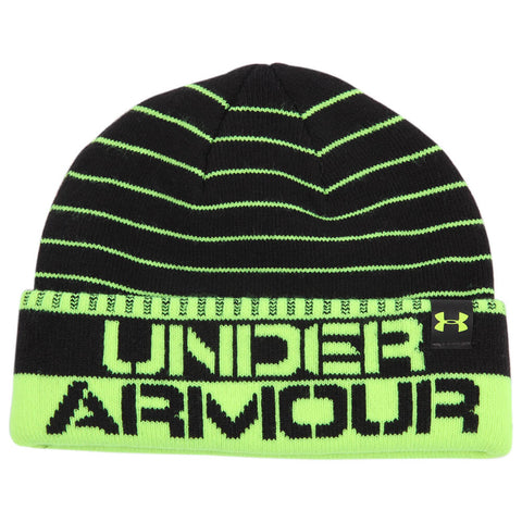 UNDER ARMOUR BOYS CHILLZ STRIPE BEANIE BLACK