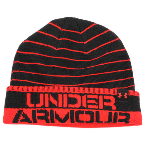 UNDER ARMOUR BOYS CHILLZ STRIPE BEANIE GREY