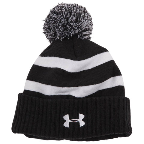 UNDER ARMOUR BOYS POM BEANIE BLACK