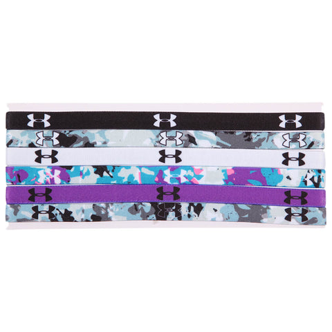 UNDER ARMOUR MINI GRAPHIC HEADBAND 6 PACK BLACK