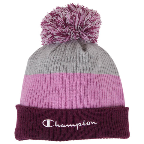 CHAMPION FASHION BLOCK BEANIE PURPLE FLAT