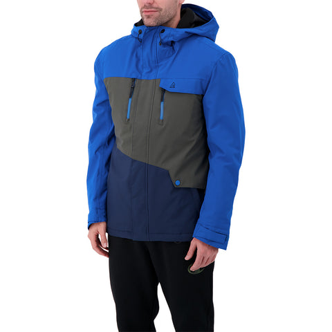RIPZONE MEN'S STAMPEDE INSULATED JACKET CLASSIC BLUE/RAVEN/BLACK IRIS