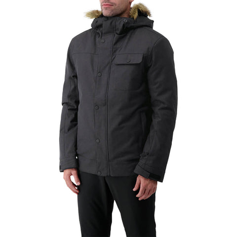 RIPZONE MEN'S RENEGADE INSULATED JACKET BLACK MELANGE MODEL