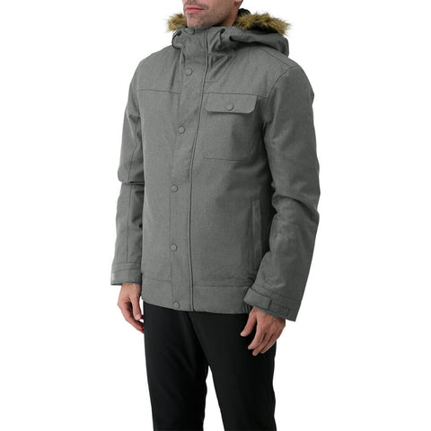 RIPZONE MEN'S RENEGADE INSULATED JACKET GUN METAL CYPRESS MELANGE MODEL