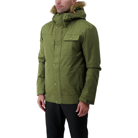 RIPZONE MEN'S RENEGADE INSULATED JACKET CYPRESS MELANGE MODEL