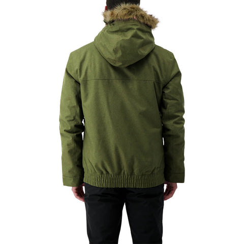 RIPZONE MEN'S RENEGADE INSULATED JACKET CYPRESS MELANGE MODEL BACK