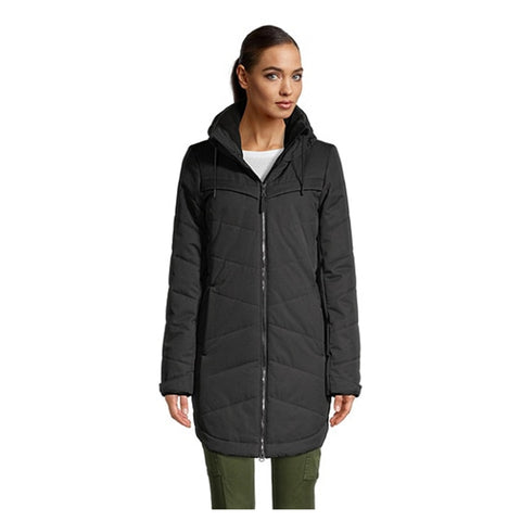 RIPZONE WOMEN'S WHITEHORN INSULATED PARKA BLACK MELANGE