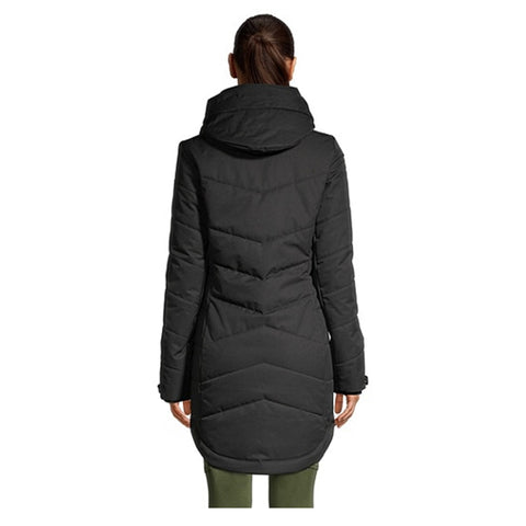 RIPZONE WOMEN'S WHITEHORN INSULATED PARKA BLACK MELANGE BACK