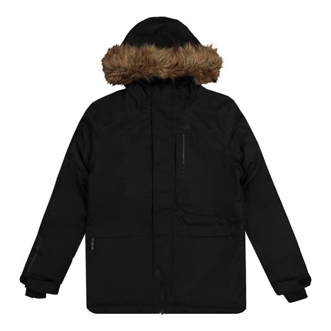 RIPZONE BOYS RUSTLER INSULATED PARKA BLACK MELANGE