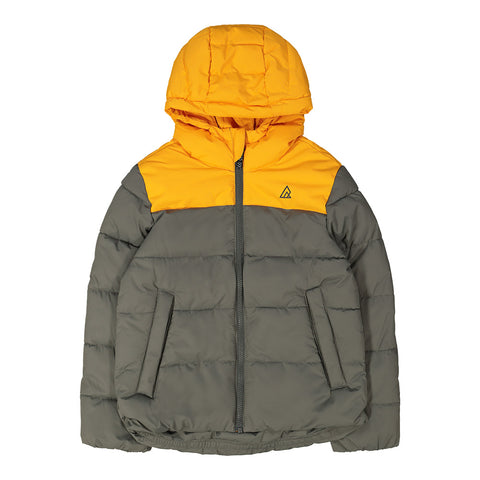 RIPZONE BOYS TURBO PUFFY JACKET CADMIUM/GUNMETAL