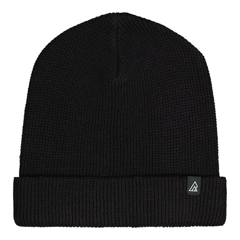 RIPZONE MEN'S LUDO FOLD OVER BEANIE BLACK