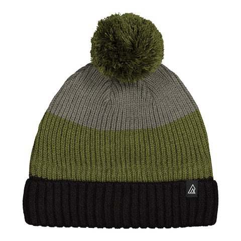 RIPZONE MEN'S TATUM POM TOQUE BLACK/CYPRESS/GUNMETAL