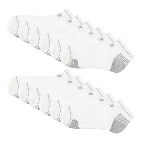 WILSON WOMEN'S 6 PACK MULTI SPORT LOW CUT SOCKS WHITE