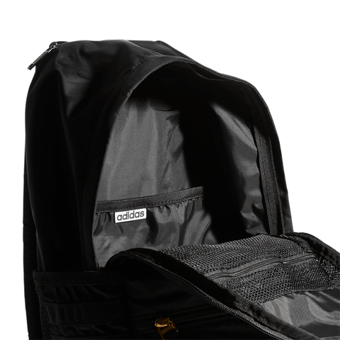 ADIDAS CLASSIC 3S PLUS BACKPACK BLACK CLOSE UP
