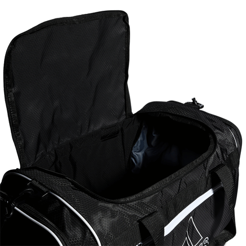 ADIDAS DEFENDER III MEDIUM DUFFEL BLACK CLOSE UP