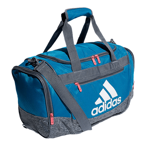 ADIDAS DEFENDER III SMALL DUFFEL TURQUOISE SIDE VIEW