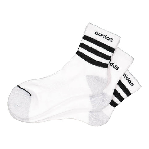 ADIDAS MEN'S 3-STRIPE 3-PACK HIGH QUARTER MULTI COLOUR SOCKS