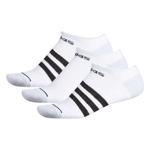 ADIDAS MENS 3-STRIPE 3-PACK NO SHOW MULTI COLOUR