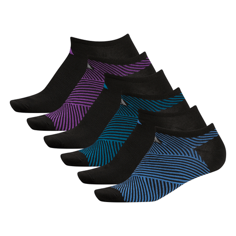 ADIDAS WOMEN'S ANGLE 6-PACK NO SHOW MULTI COLOUR SOCKS